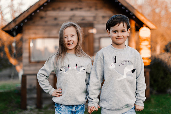 Light Gray Sweater with Bunnie / Kids
