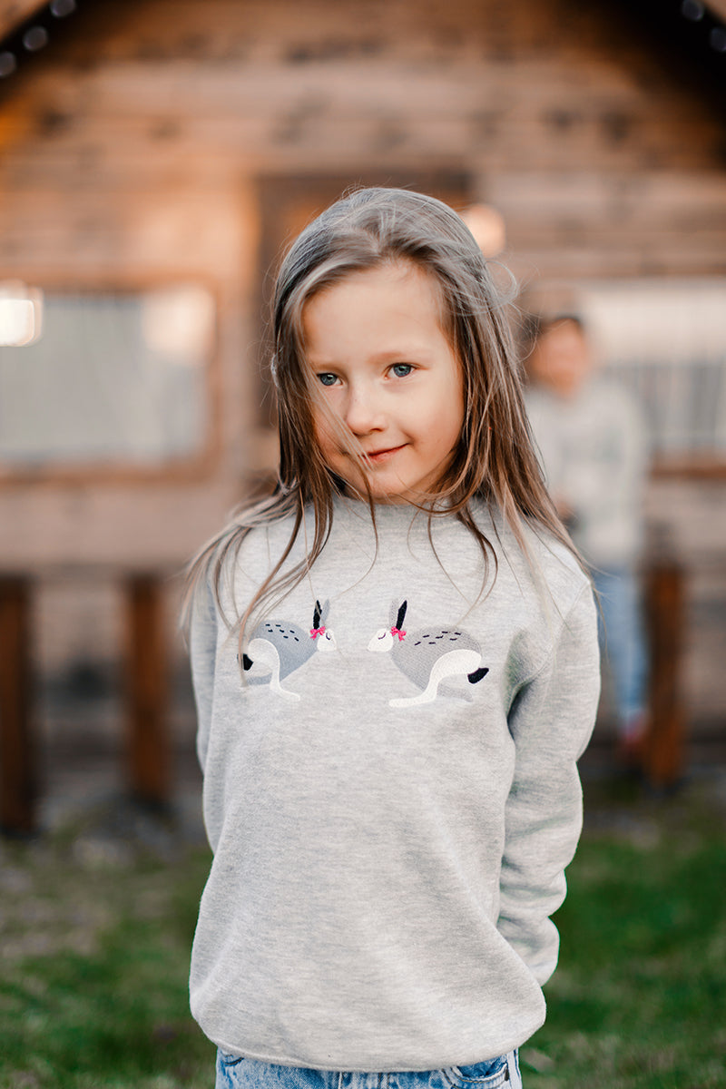 Light Gray Jumper with Bunnies  / Kids