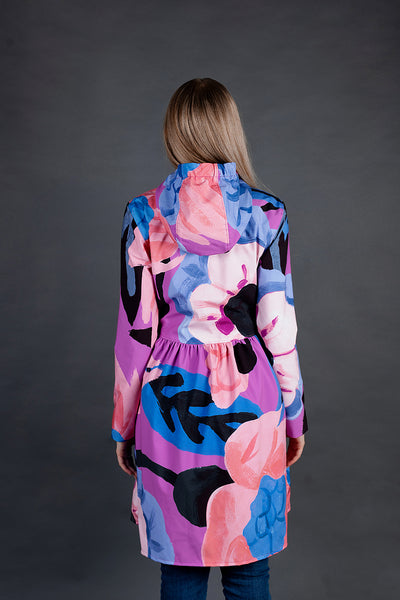 Softshell Raincoat / Flower print