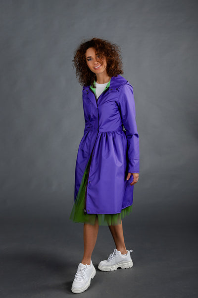 Purple raincoat
