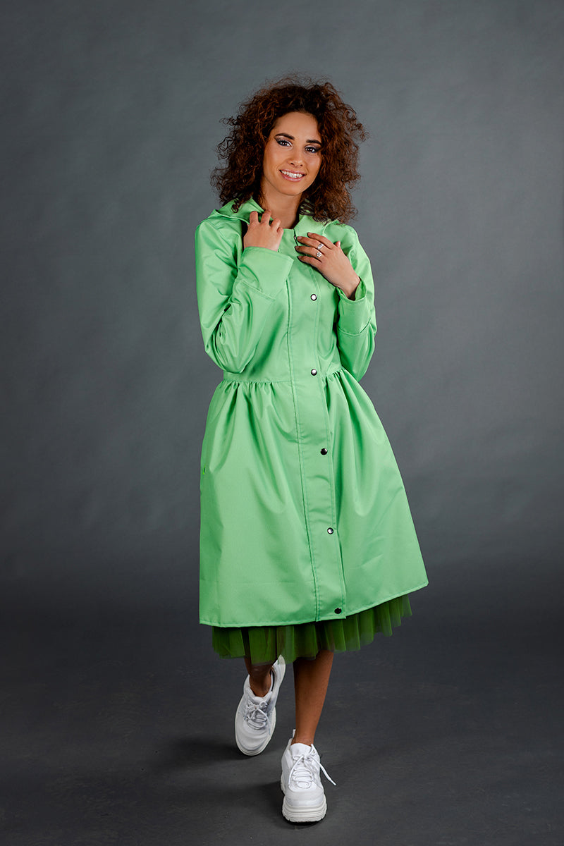 Light Green raincoat