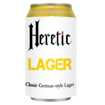Heretic Lager (can) - 330ml - 5.4%