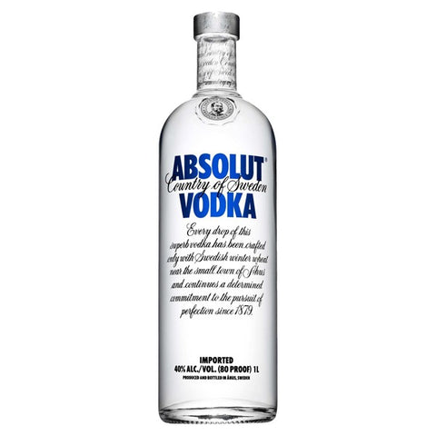 Absolut Vodka  - 1L - 40.0%