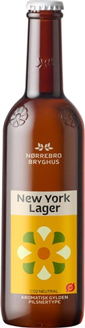 Norrebro Bryghus New York Lager - 400 ml - 5.2% - Pale Lager