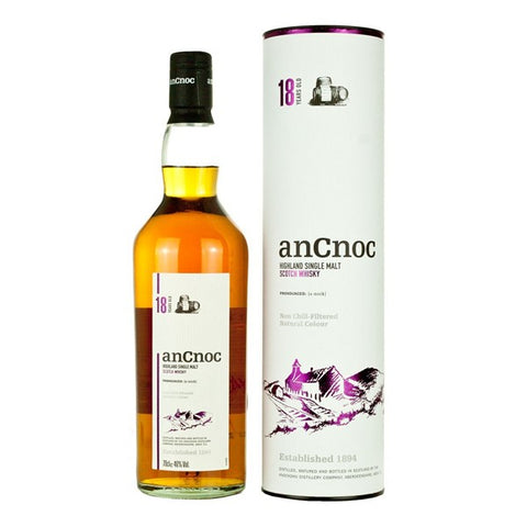 anCnoc 18 Year Old Scotch Whisky - 700ml - 46%