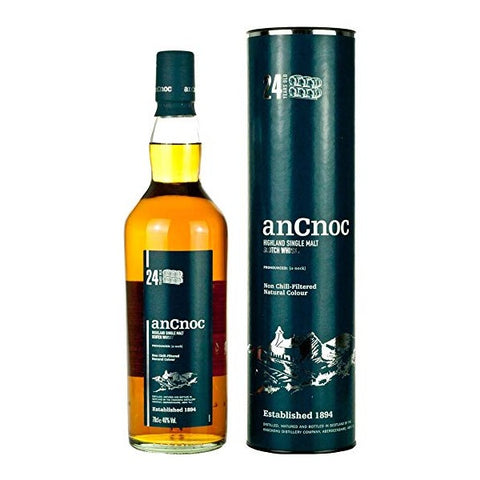 anCnoc 24 Year Old Scotch Whisky - 700ml - 46%