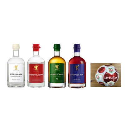 Liverpool Gin Discovery Set + Liverpool Balll - 4x700ml+1xBall