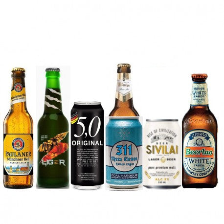 Lager Beers Selection - 6 bottles