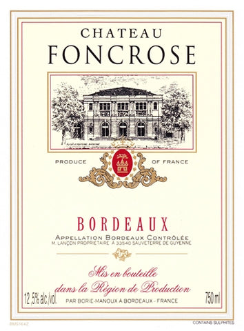 Wine: Chateau Foncrose Bordeaux - France - 750ml by wishbeer1