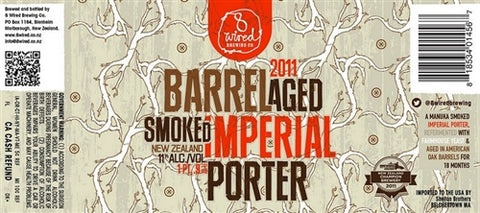 LIMITED - 8 Wired Barrel Aged Smoked Imperial Porter 2011 - 500 ml - 11% - Smoked Beer