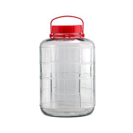 Glass Bubbler - 3 gallon sealed lid