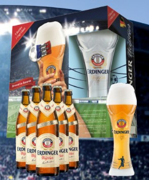 Erdinger World Cup Set 5x500ml + 1 Glass
