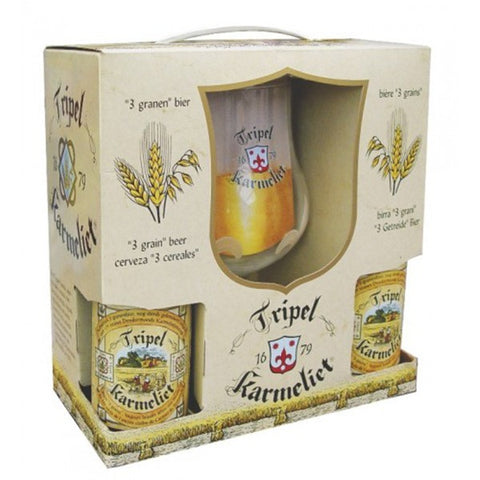 Tripel Karmeliet Box Set - Triple Karmeliet (4 x 330 ml bottle + glass)