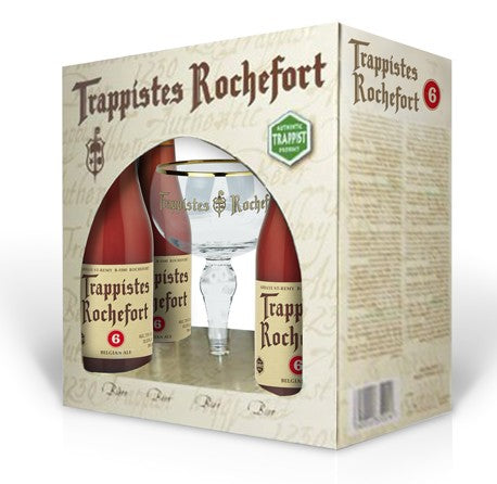 Rochefort 6 Box set - Rochefort 6 (4 x 330 ml bottle + glass)