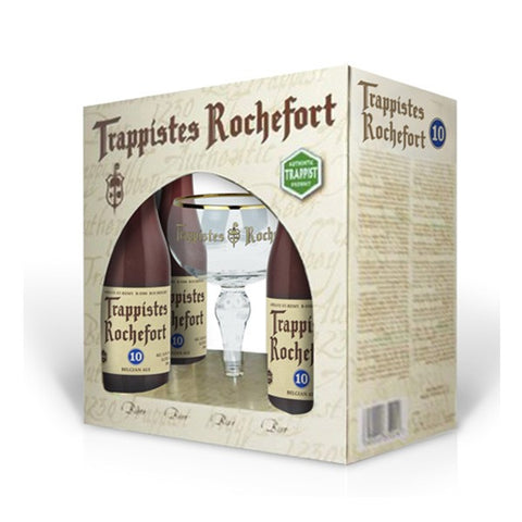 Rochefort 10 Gift Set - 4x330ml + 1 Glass - 11.3%