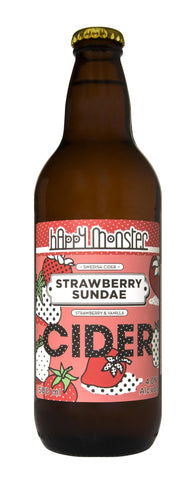 Happy Monster Strawberry Sundae - 500ml - 4%