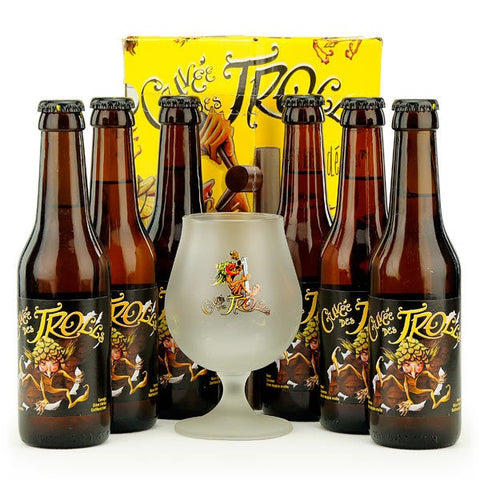 Cuvee Des Trolls Gift Set - 6x 330ml + 1 Glass - 7.0%