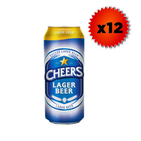 Cheers Beer (Can) - 490ml x 12 - 5.6%