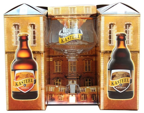 Kasteel Box Set - 4x330 ml + glass -