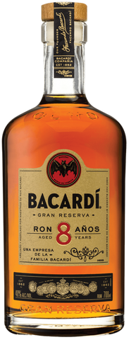 Bacardi 8 Years Old Rum - 750ml - 40%