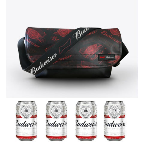 PREORDER Budweiser Bag Gift Set - 4xBudweiser (Can) 330 ml + Budweiser Bag