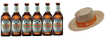 6x Beer Lao White Lager - 330ml + 1x Beer Lao Straw Hat