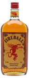 Fireball Whisky Cinnamon - 750ml - 33% + 1x Fireball Flask Black Wrapped 8 oz