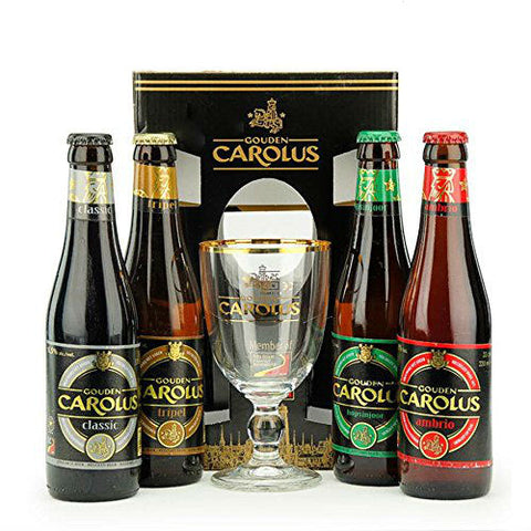 Gouden Carolus Gift Set - 4x330ml + 1 Glass