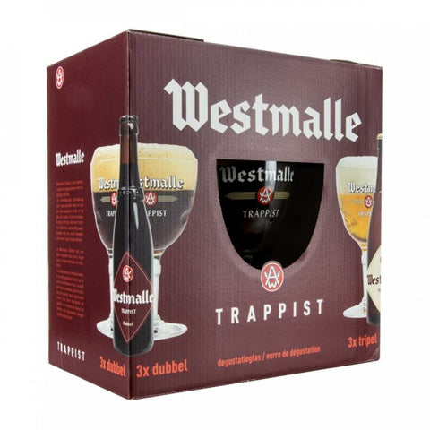 Westmalle Gift Set - 4x330ml + 1 Glass