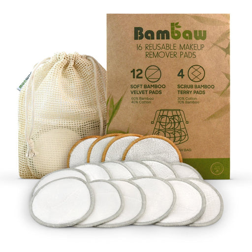 Reusable Make-up Remover Pads - 16 Pack Health & Beauty Bambaw