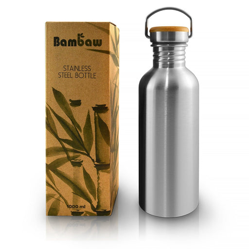 Stainless Steel Bottle - 1L Kitchen Accessories Bambaw