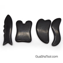 Load image into Gallery viewer, Polished Bian Stone Gua Sha Massage Scraping Tool Set