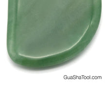 Load image into Gallery viewer, Jade Green Pebble Aventurine Gua Sha Scraping Tool
