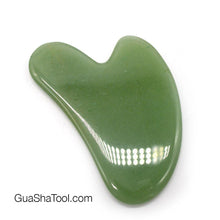 Load image into Gallery viewer, Jade Green Smooth Heart Gua Sha Massage Scraper Tool