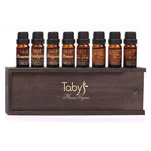 Aromatherapy Essential Oils 100% Pure & Natural Top 8 Gift Set - Bergamot, Lavender, Tea Tree, Peppermint, Lemon, Eucalyptus, Orange, Rosemary,Beauty & Personal Care,HyperMarketsUAE