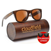 cloudfield Wood Sunglasses Polarized for Men and Women - Bamboo Wooden Wayfarer Style,Sunglasses,HyperMarketsUAE