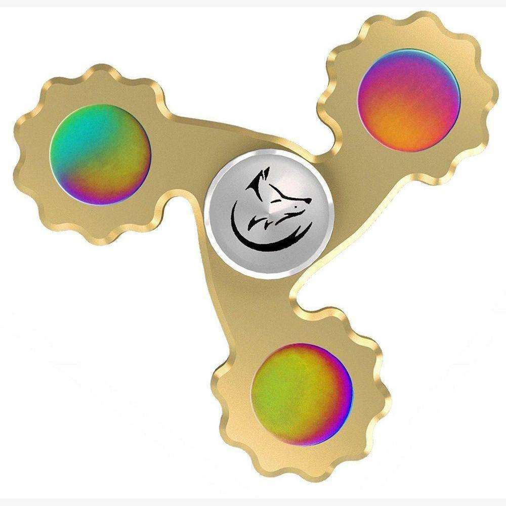 Spinx Hand Spinner Fidget Toys for Adults and kids  prime Tri-Brass design to relieve symptoms of stress,,HyperMarketsUAE
