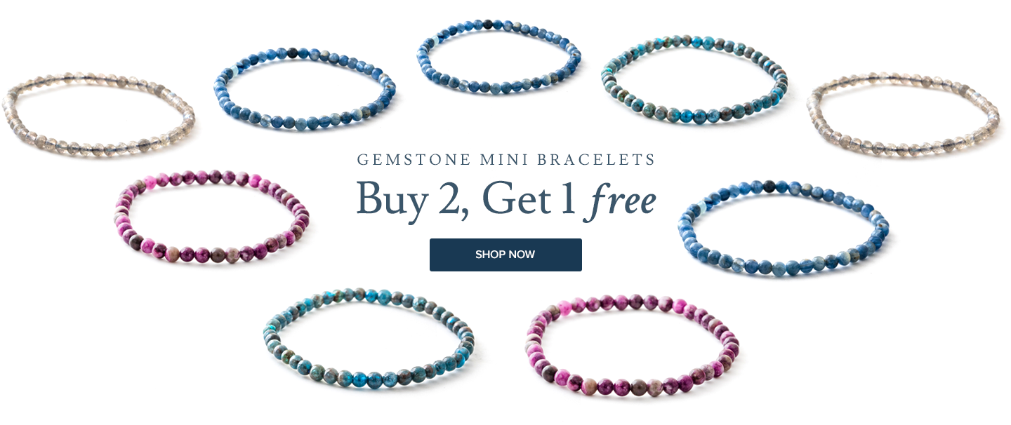 gemstone mini bracelets