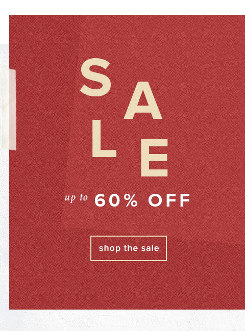 Sale! Up to 60% Off select items