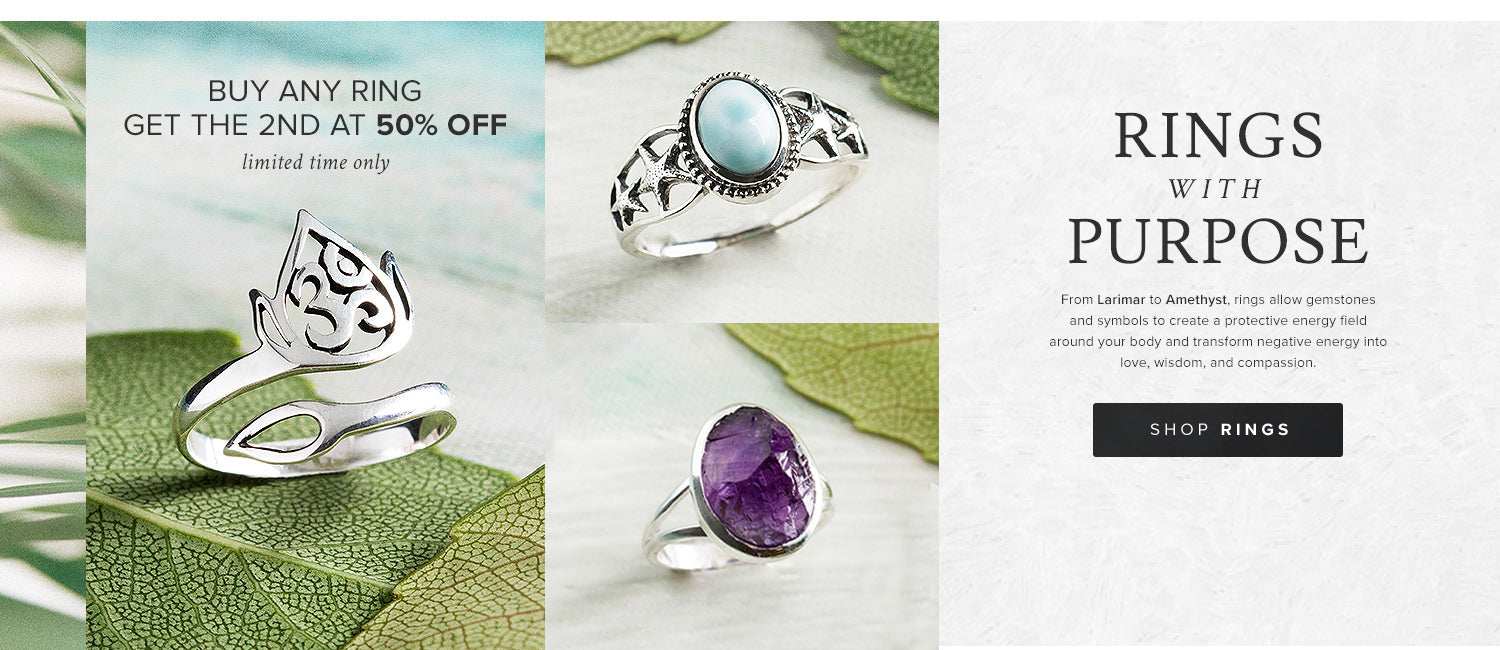 Buy any ring, get the 2nd for 50% off!