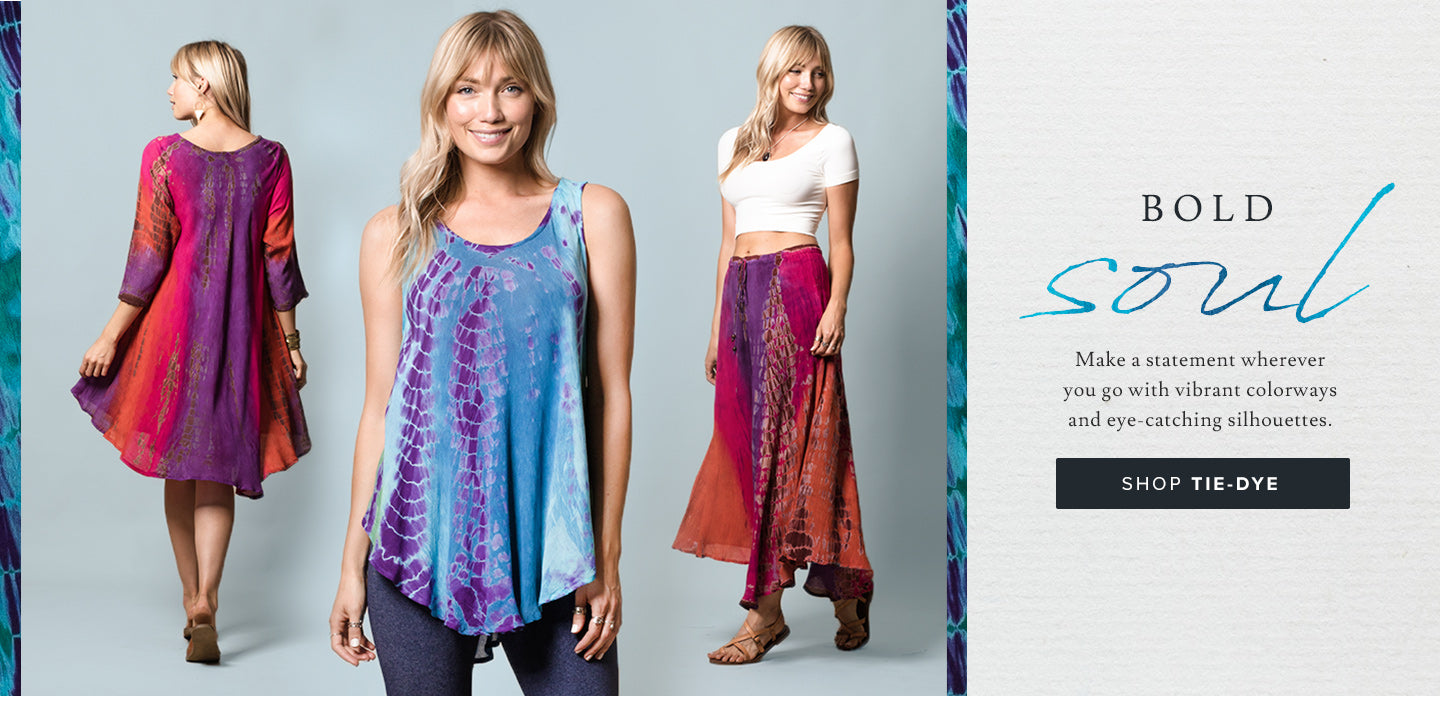 Buy 2 Tie-Dye items, Get one Free!