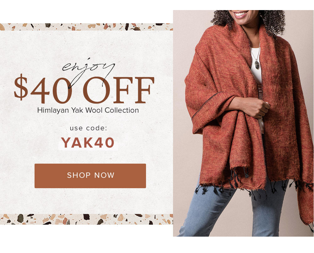 $40 off Himalayan Yak Wool Collection with code YAK40
