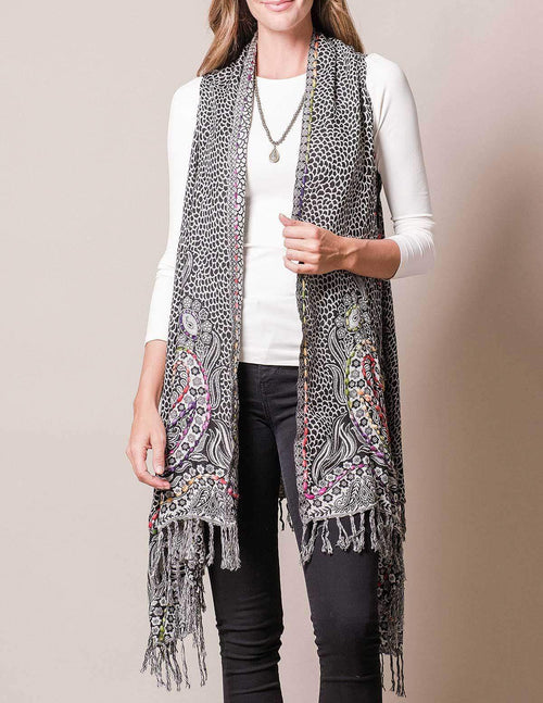 3-in-1 Jaipur Wrap - Black