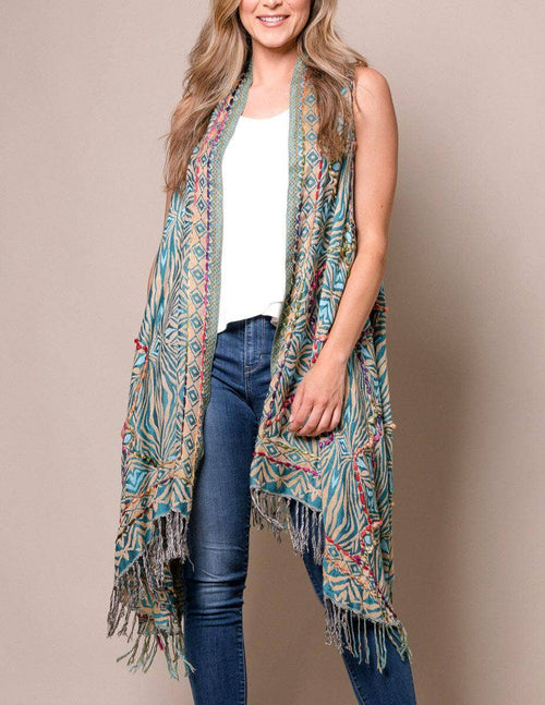 3-in-1 Jaipur Wrap - Blue Lagoon