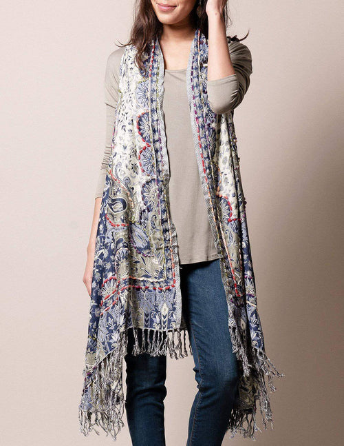 3-in-1 Jaipur Wrap - Blue Sage