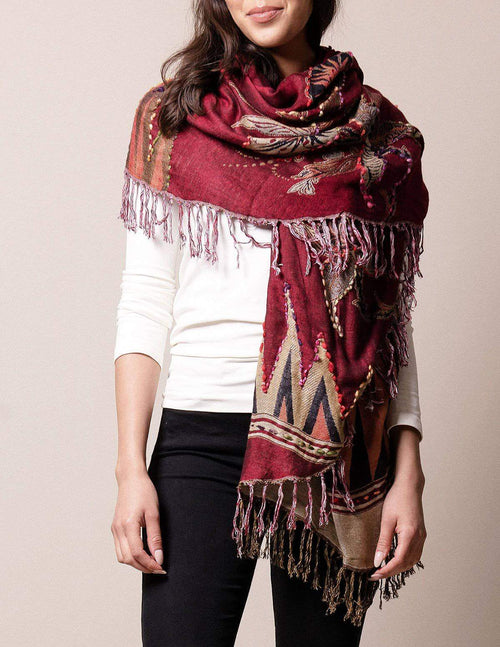 3-in-1 Maya Wrap - Burgundy