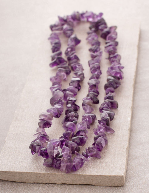 Amethyst Gemstone Chip Necklace