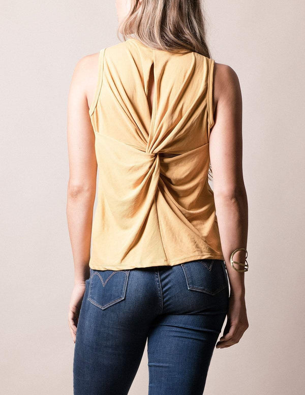 Amrita Twist-Back Tank