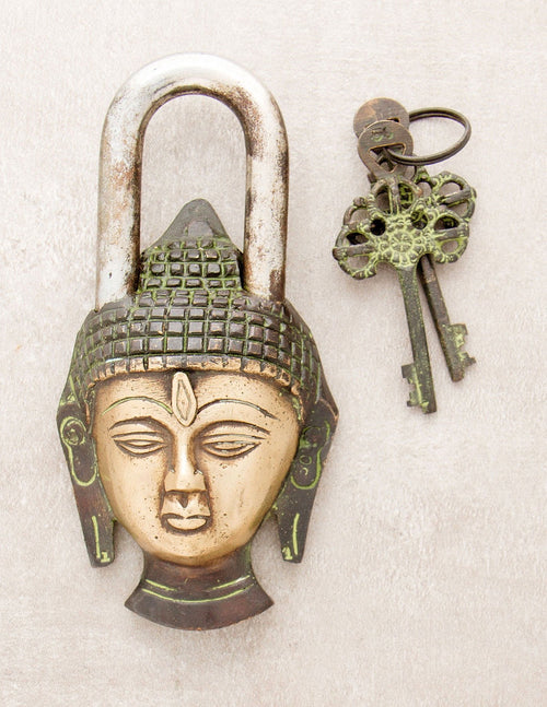 Antique Handmade Buddha Lock