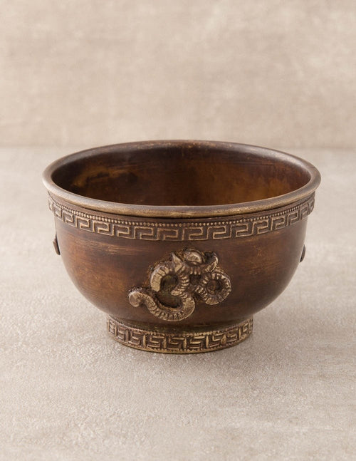 Antiqued Om Copper Incense Burner